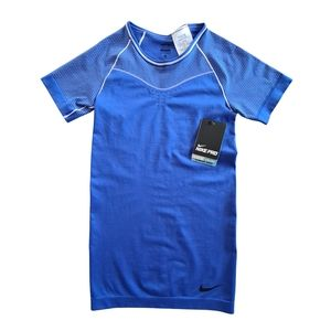 NEW Nike Pro Blue Dri-Fit Exercise Top Size XS